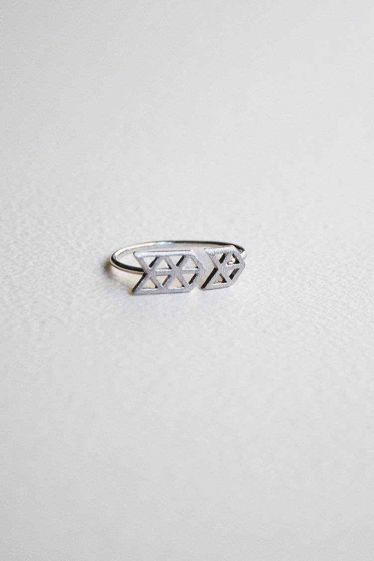 Open Arrow Δαχτυλίδι - Ασημί accessories   κοσμήματα