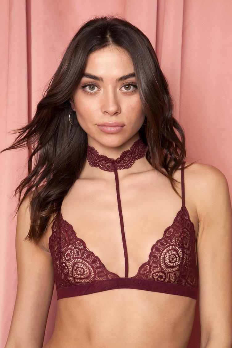Part Time Lover Bordeaux Lace Bralette - Μπορντώ clothes   εσώρουχα