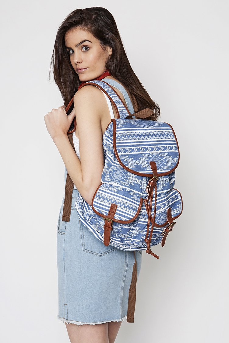 Aztec Backpack - Indigo