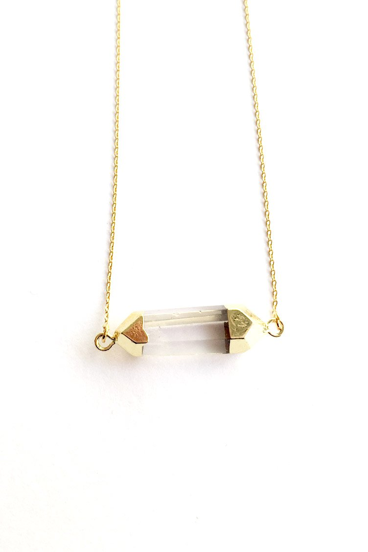 Gold Crystal Κολιέ - Χρυσό
