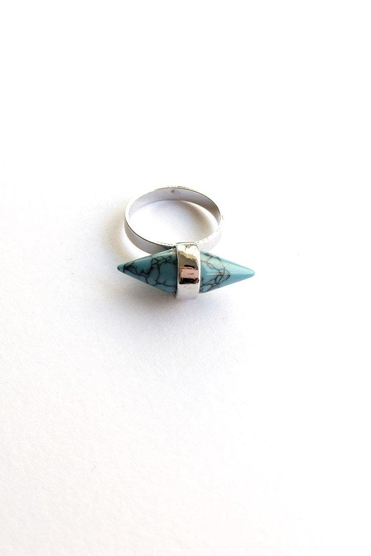 Marble Spike Δαχτυλίδι - Ασημί accessories   κοσμήματα