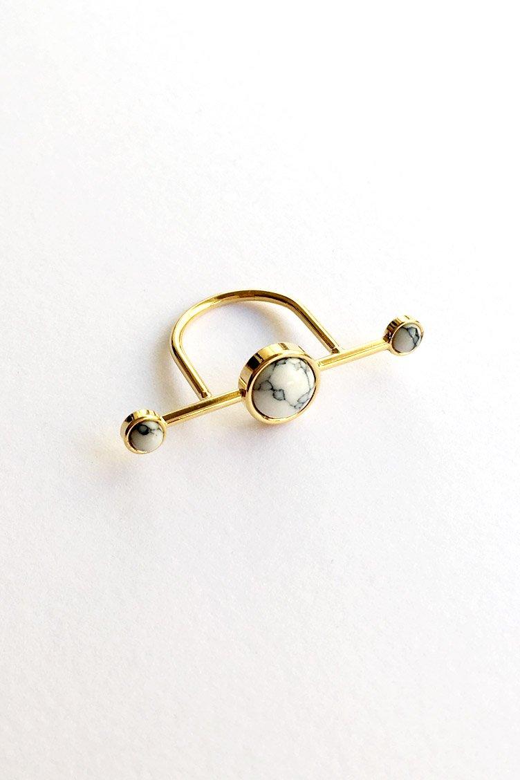 Gold Marble Δαχτυλίδι - Χρυσό