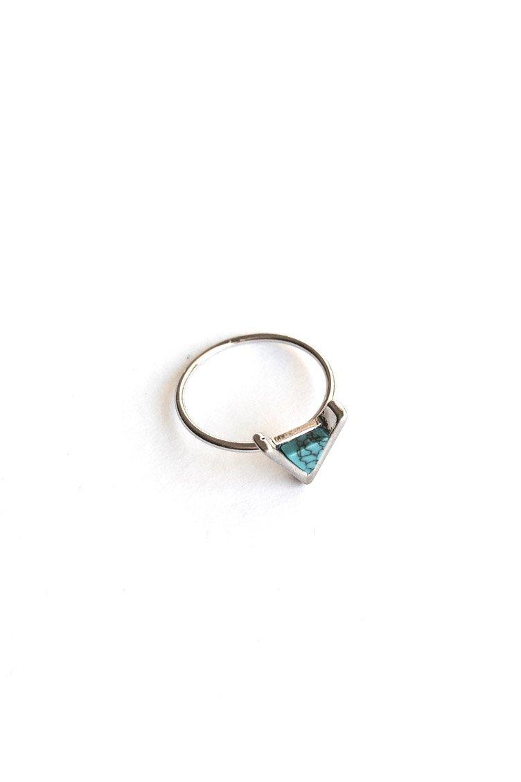 Marble Triangle Δαχτυλίδι - Ασημί