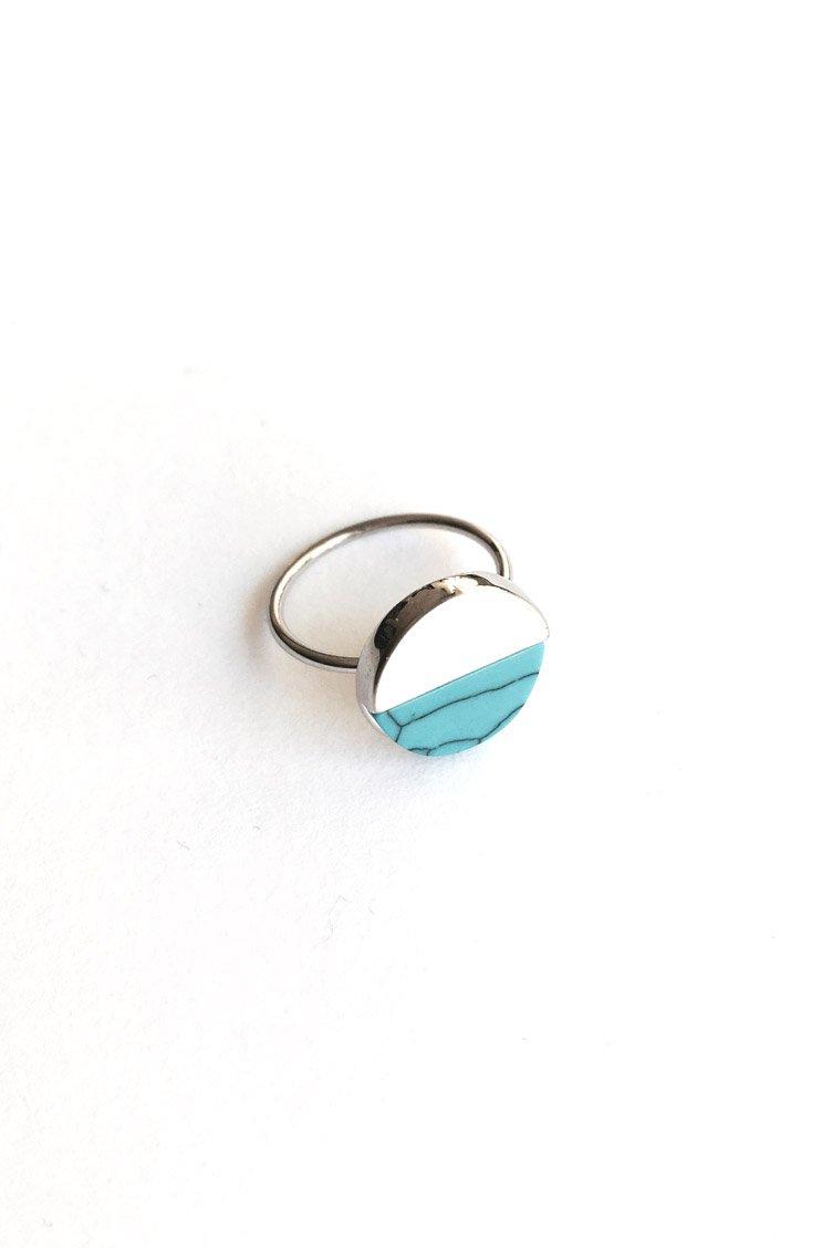 Blue Marble Δαχτυλίδι - Ασημί