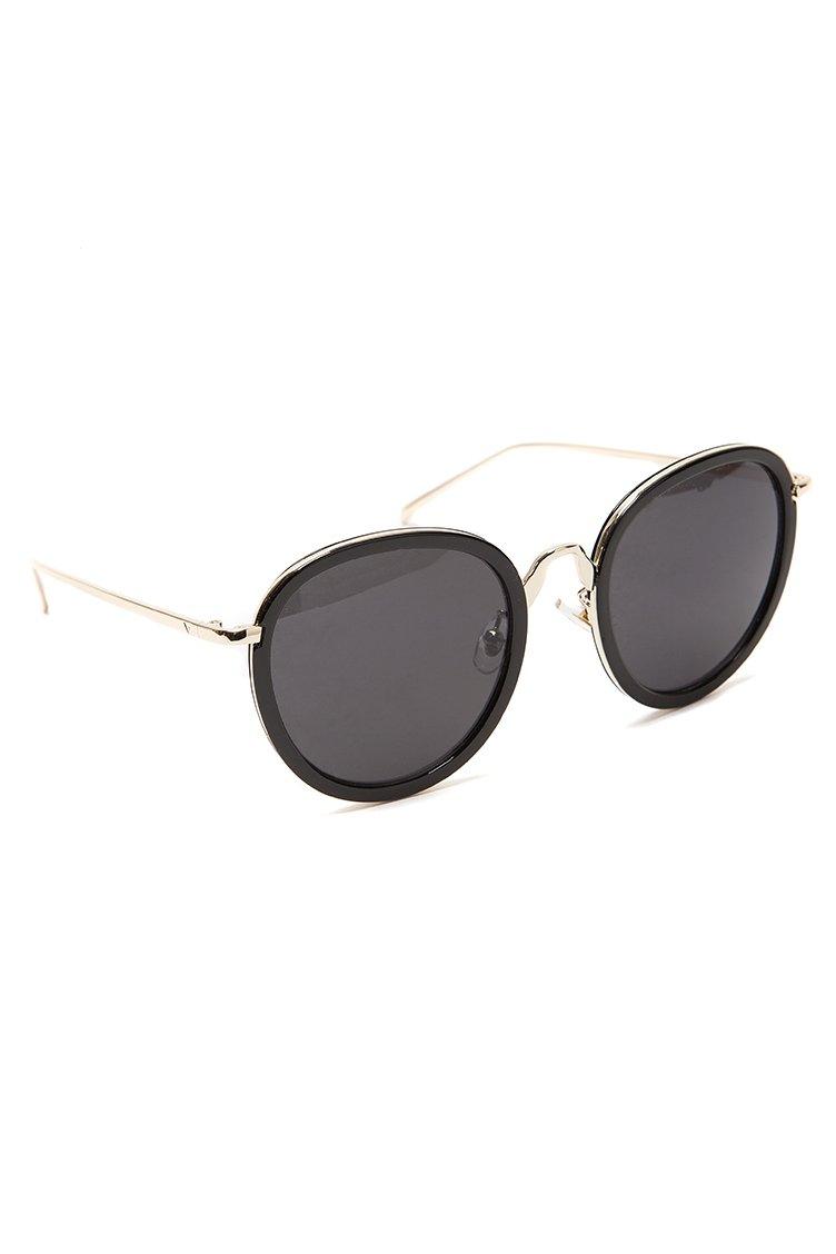 Metal Detail Round Shades - Μαύρο accessories   γυαλιά ηλίου