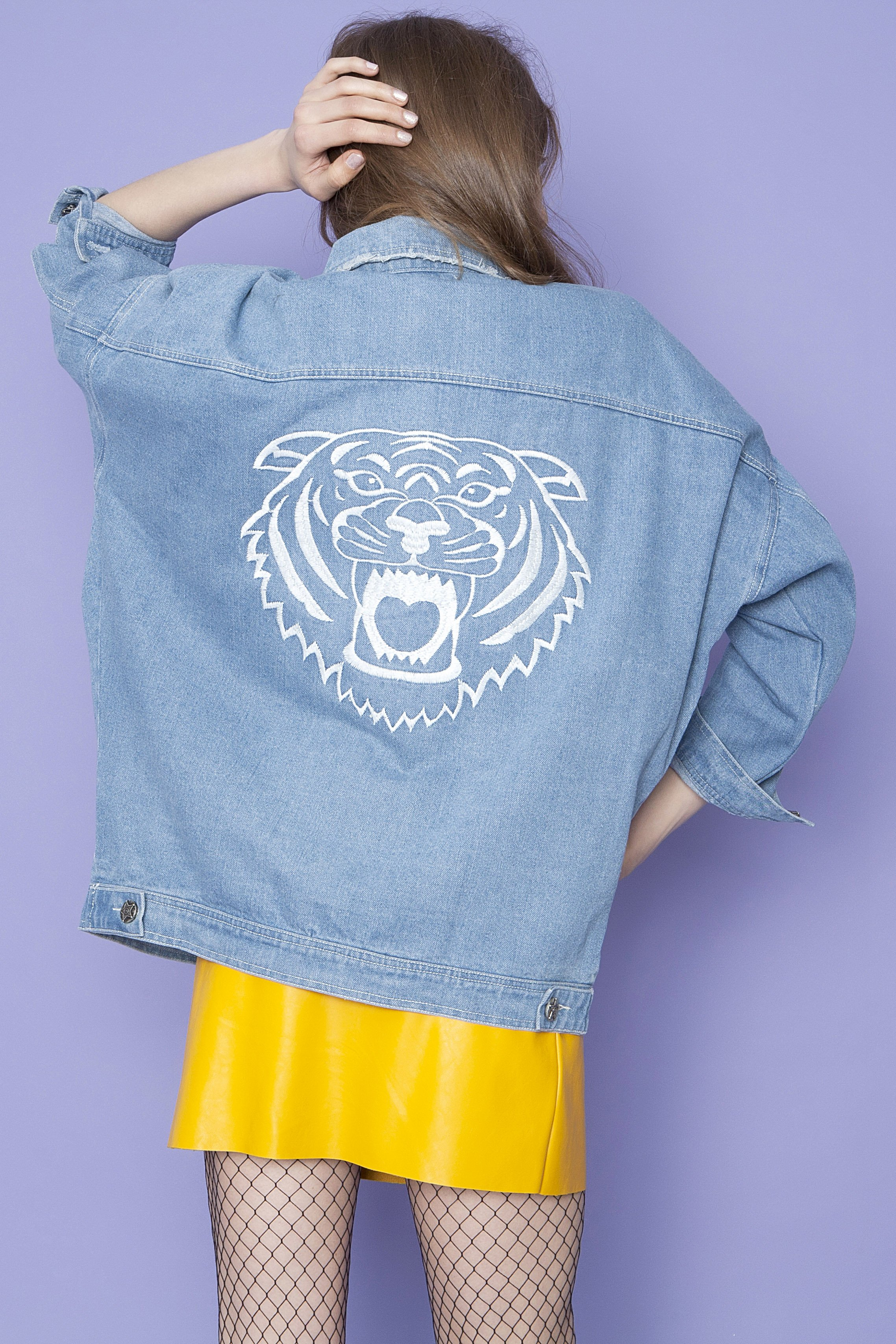 Oversized Denim Jacket - Μπλε