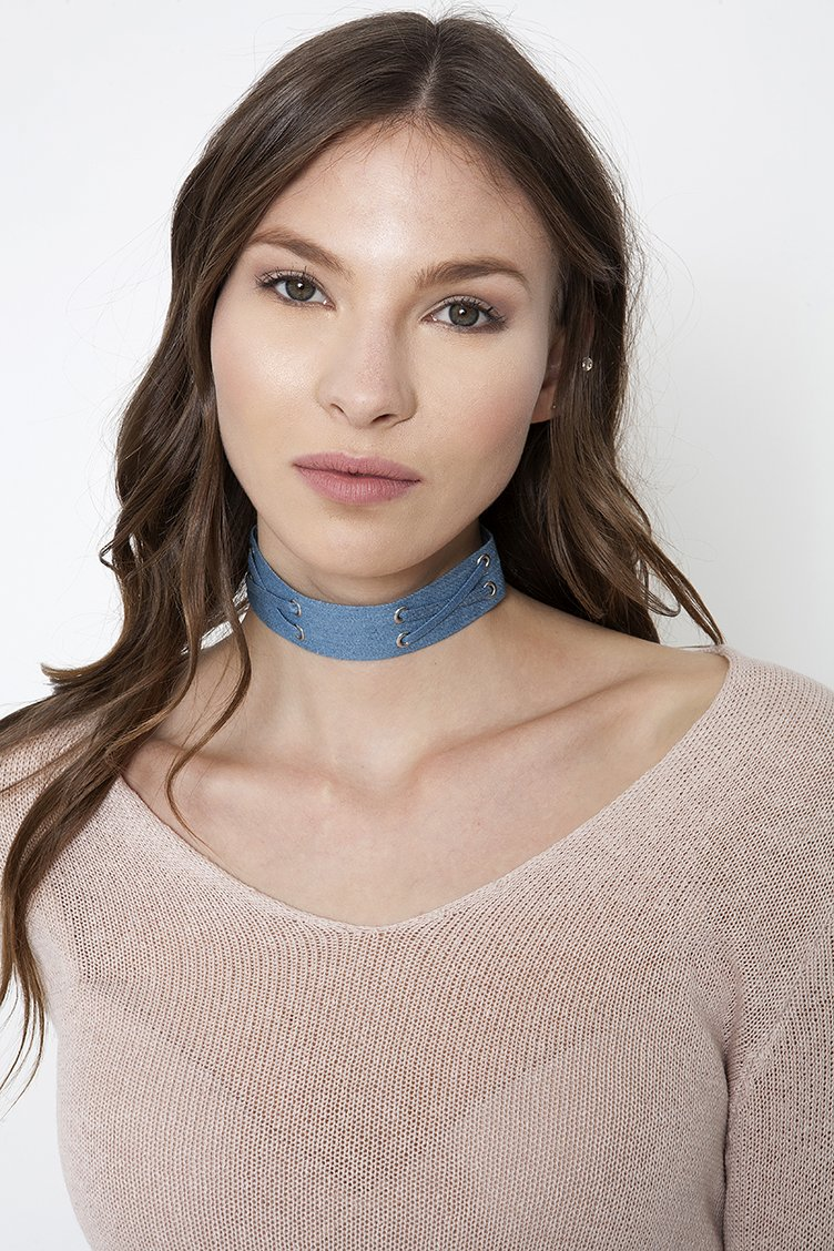 Denim Chocker - Light blue