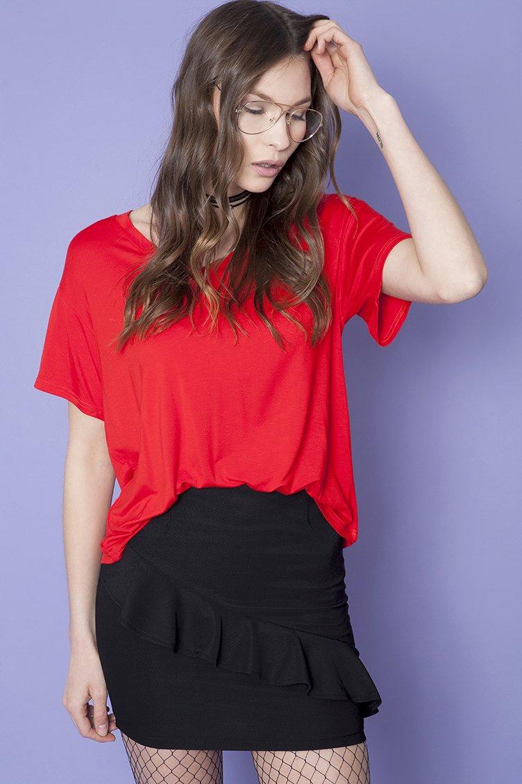 Mini Frilled Φούστα - Μαύρο clothes   φούστες
