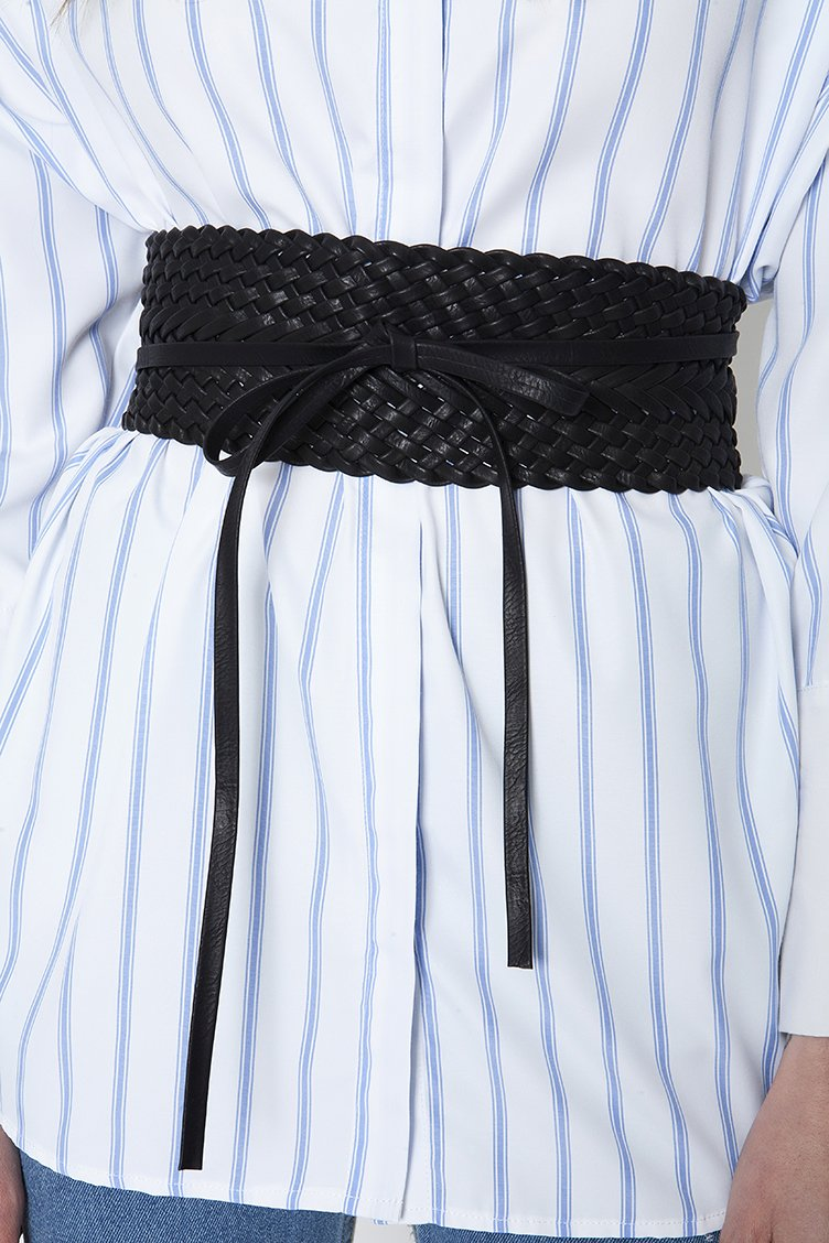 Leather Corset Ζώνη - Μαύρο