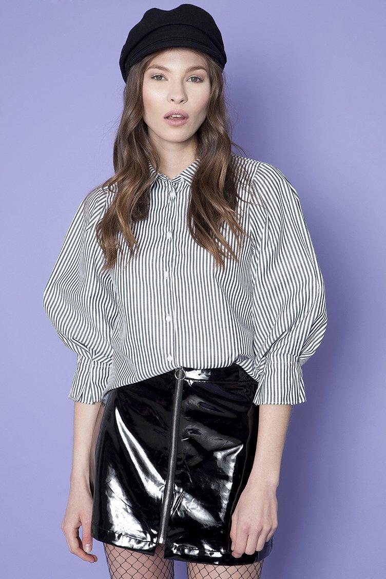 Full Sleeve Πουκάμισο - Μαύρο clothes   tops   πουκάμισα