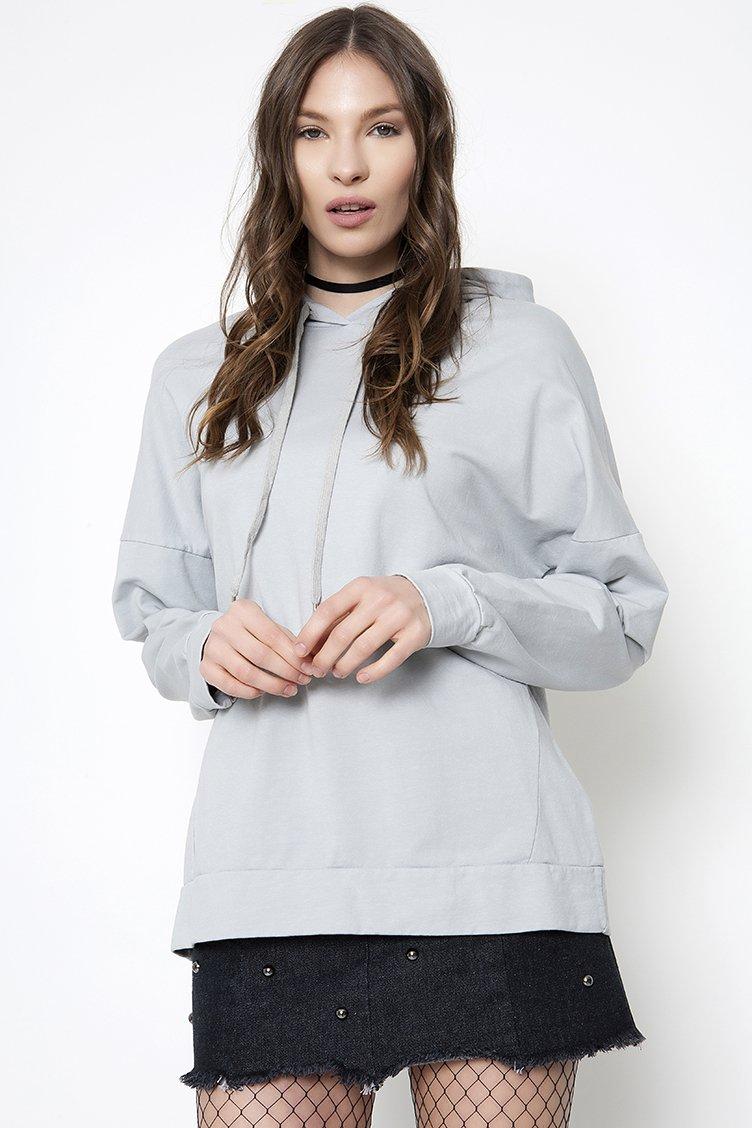 Oversized Sweatshirt - Γκρι