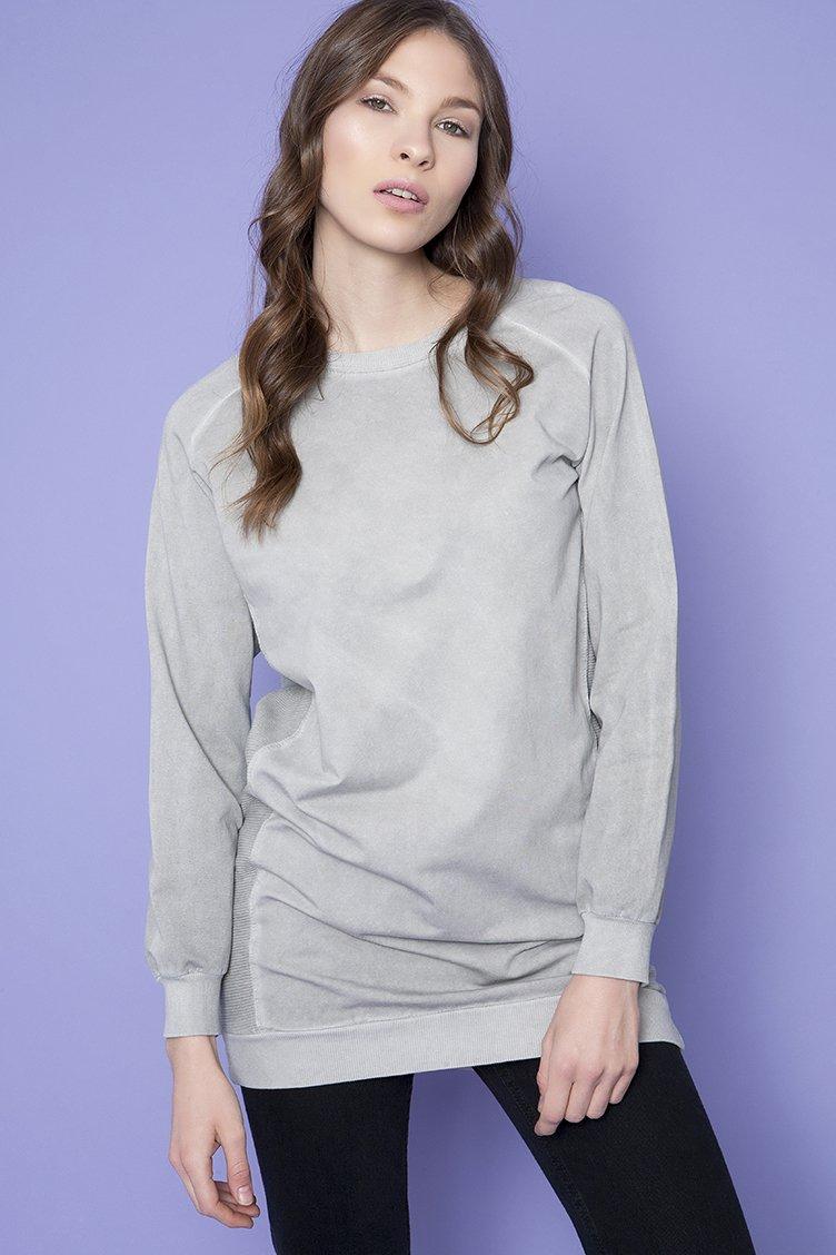 Washed Oversized Sweatshirt - Γκρι clothes   tops   φούτερ