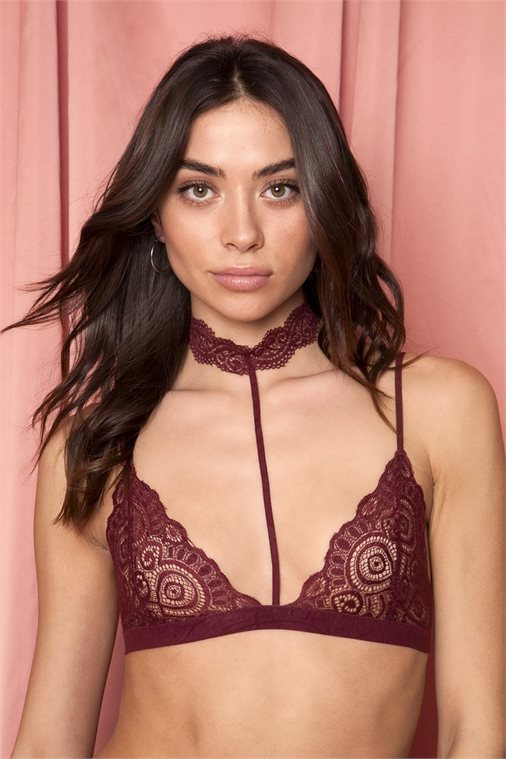 PART TIME LOVER BORDEAUX LACE BRALETTE