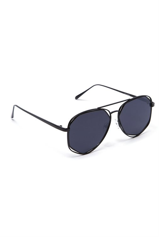 METAL BRIDGE AVIATOR SHADES