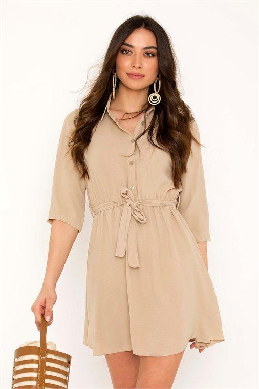 ΜΙΝΙ ΦΟΡΕΜΑ ΜΕ ΖΩΝΗ - CLOTHES -  Φορέματα   Φόρμες -  Mini φορέματα ... cb86b0222d8