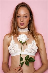 Young & Beautiful White Lace Bralette