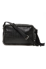 Textured Leather Cross Body Bag