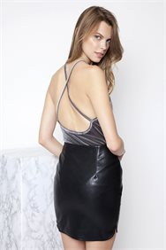 Velvet Backless Κορμάκι