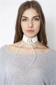 Lace Up Leather Choker