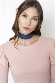 Denim Choker