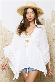 Lace Detail Open Tunic