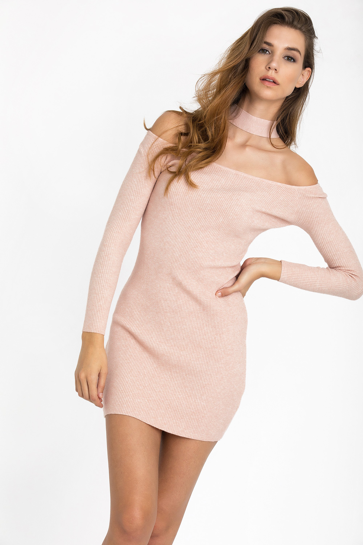 CHOKER NECK ΦΟΡΕΜΑ - Ροζ clothes   φορέματα   φόρμες   mini φορέματα