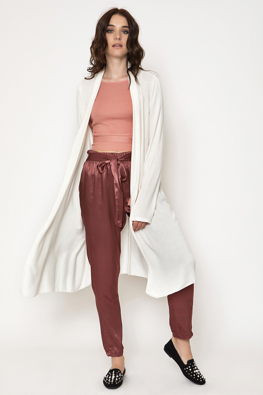 MAXI ΠΛΕΚΤΗ ΖΑΚΕΤΑ - Εκρού clothes   jackets   ζακέτες