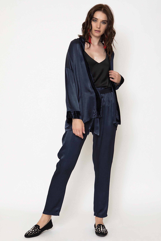 SATIN KIMONO - Μπλε clothes   jackets   kimono