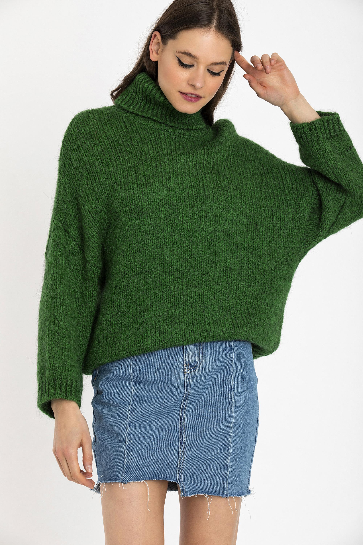 OVERSIZED ΠΟΥΛΟΒΕΡ - Πράσινο clothes   tops   πουλόβερ