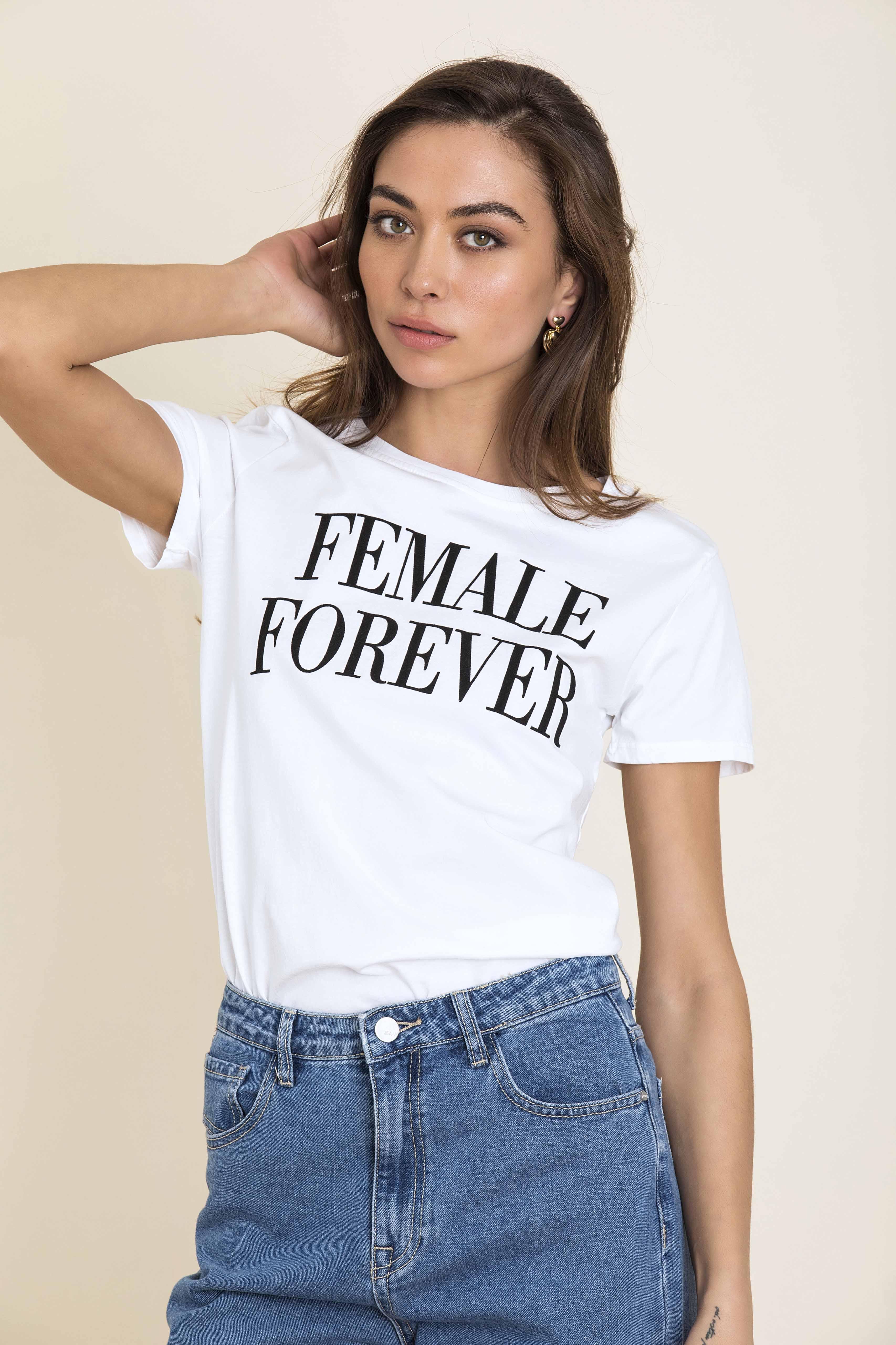 FEMALE FOREVER T-SHIRT - Άσπρο