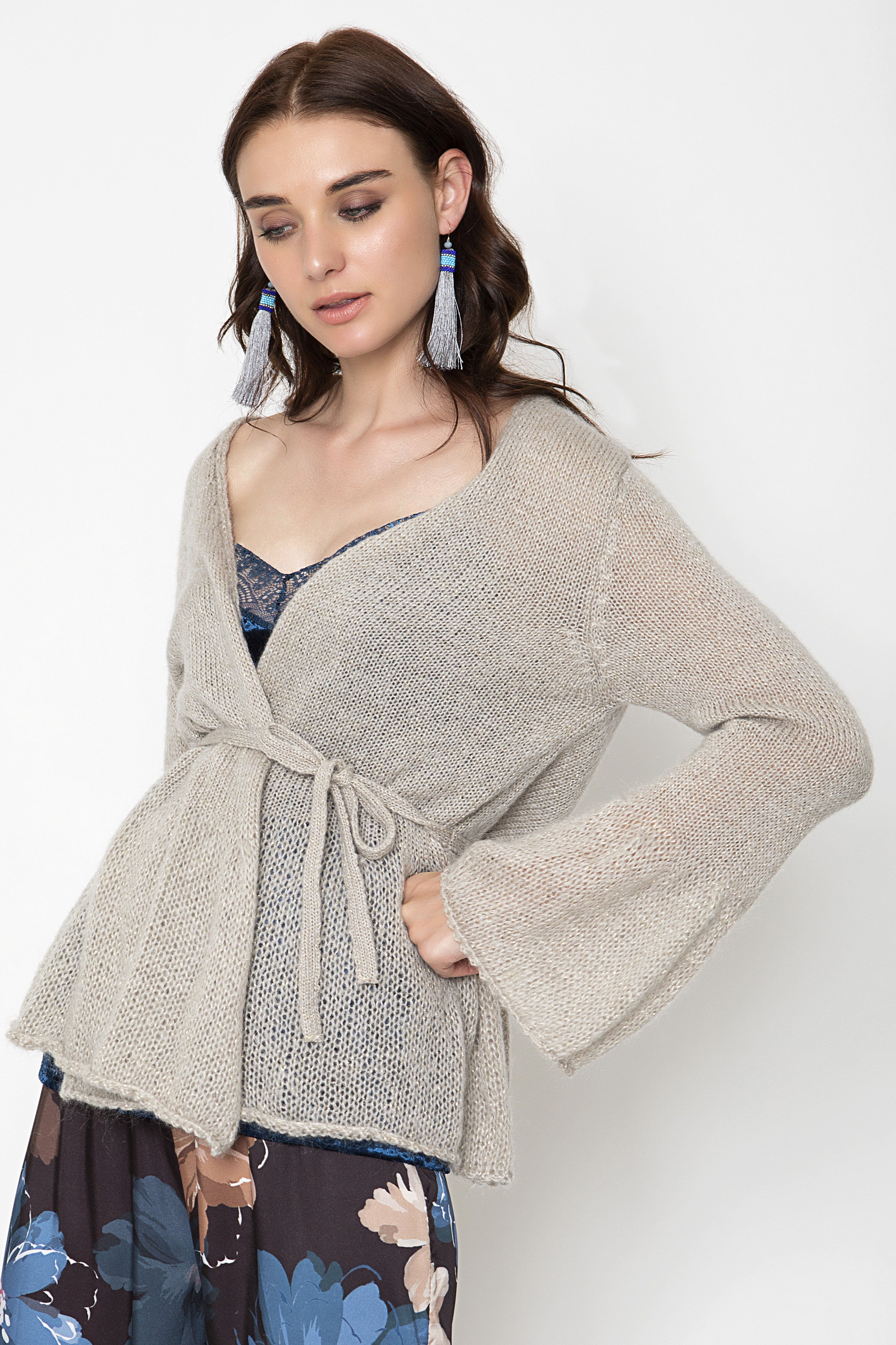 WRAP ΖΑΚΕΤΑ - Beige clothes   jackets   ζακέτες