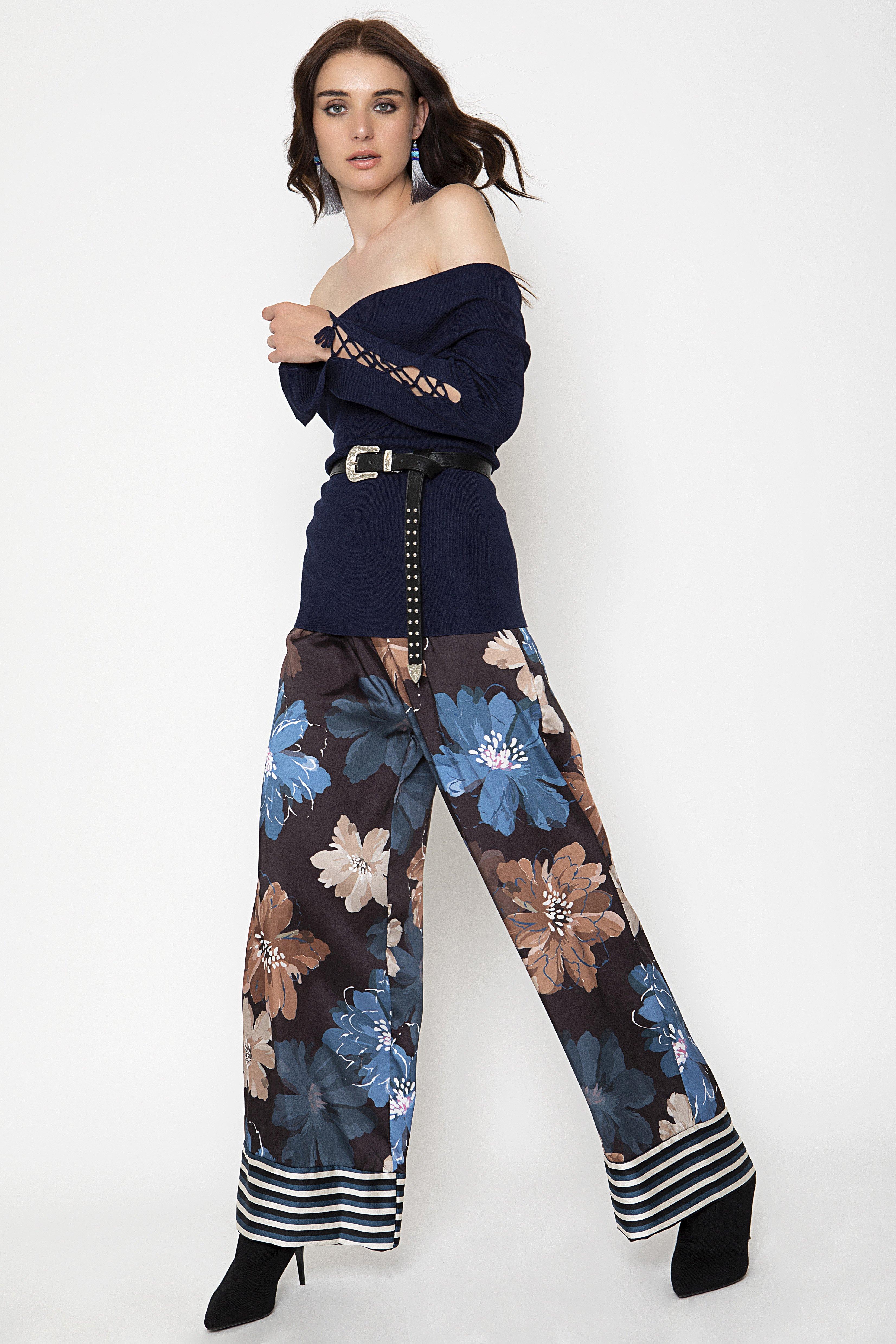 WIDE LEG ΠΑΝΤΕΛΟΝΑ - Μπλε clothes   παντελόνια