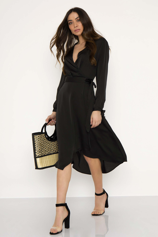 442069b46f19 MIDI ΚΡΟΥΑΖΕ ΣΑΤΙΝΕ ΦΟΡΕΜΑ - CLOTHES -  Φορέματα   Φόρμες -  Midi φορέματα