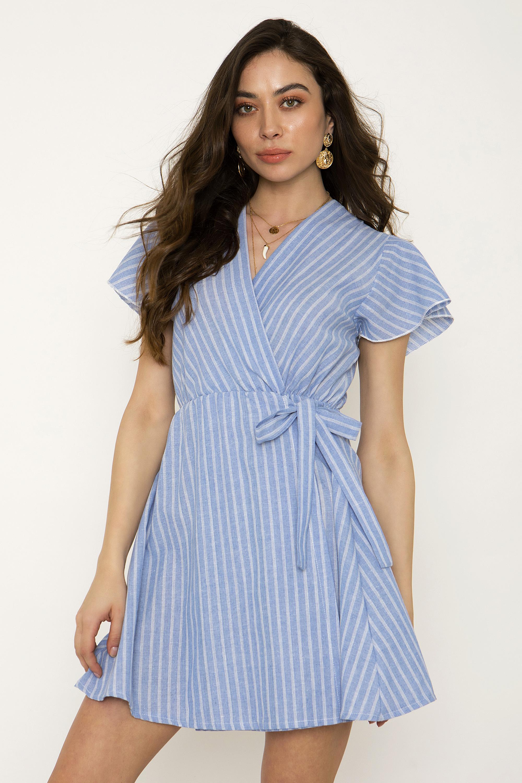 00bbf6b8f61e MINI ΚΡΟΥΑΖΕ ΡΙΓΕ ΦΟΡΕΜΑ - CLOTHES -  Φορέματα   Φόρμες -  Mini φορέματα