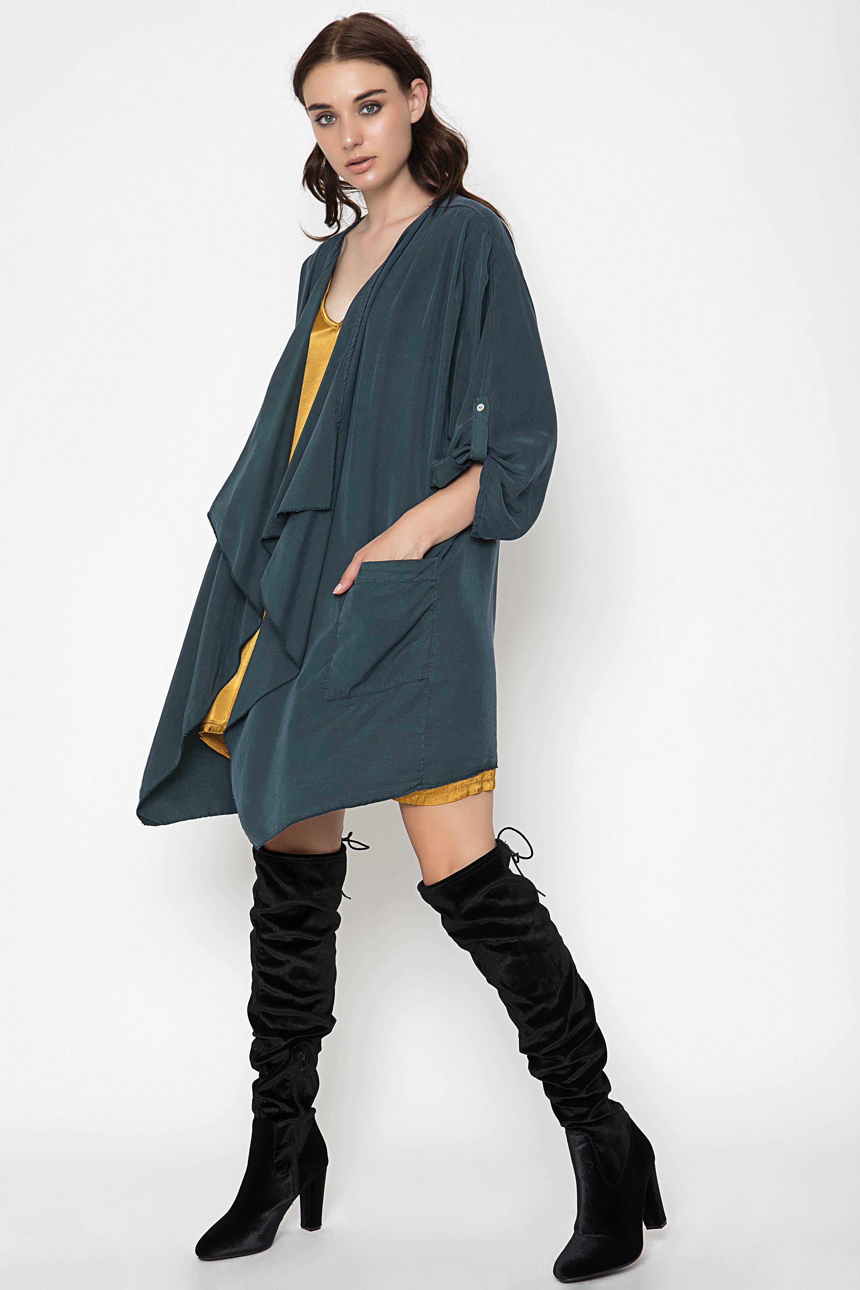 OVERSIZED JACKET - Πράσινο clothes   jackets   ζακέτες