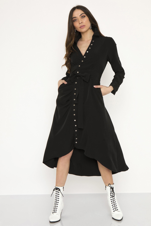 90a14825e137 ΜΑΧΙ ΦΟΡΕΜΑ ΜΕ ΓΙΑΚΑ ΚΑΙ ΚΟΥΜΠΙΑ - CLOTHES -  Φορέματα   Φόρμες -  Maxi  φορέματα