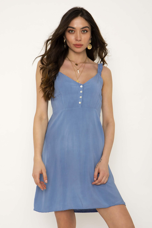 51299514c7c8 ΜΙΝΙ ΦΟΡΕΜΑ ΜΕ ΚΟΥΜΠΙΑ - CLOTHES -  Φορέματα   Φόρμες -  Mini φορέματα
