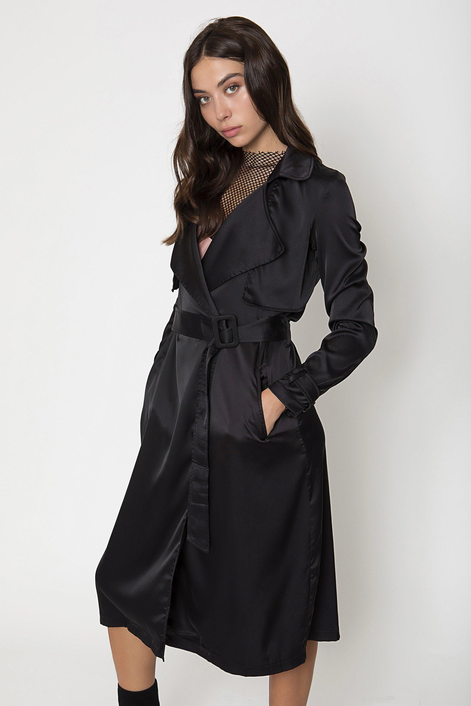 SATIN ΚΑΜΠΑΡΝΤΙΝΑ - Μαύρο clothes   jackets   παλτό   μπουφάν