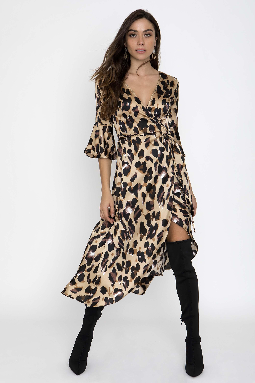 4a9bed9fdbde LEOPARD ΚΡΟΥΑΖΕ MAXI ΦΟΡΕΜΑ - CLOTHES -  Φορέματα   Φόρμες -  Maxi φορέματα