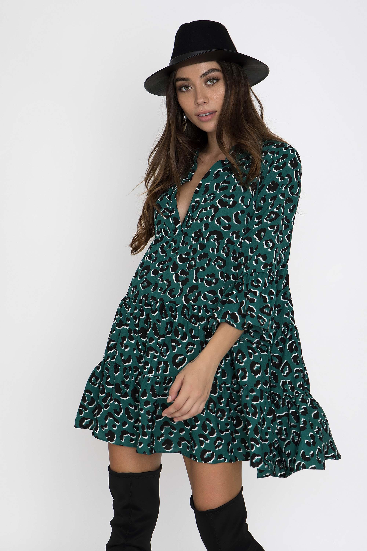 ae1de5e3f1f8 ANIMAL PRINT ΦΟΡΕΜΑ ΜΕ ΛΟΥΚΙΑ - CLOTHES -  Φορέματα   Φόρμες -  Mini  φορέματα