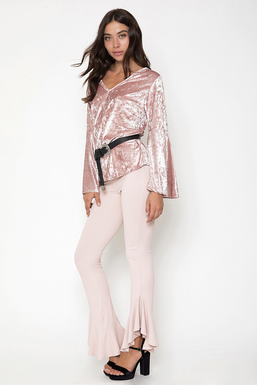 FRILL ΠΑΝΤΕΛΟΝΙ - Ροζ clothes   παντελόνια