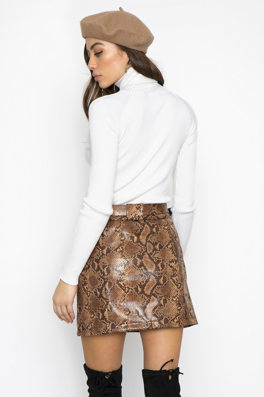 251adb5fe2b SNAKE PRINT MINI ΦΟΥΣΤΑ - CLOTHES -> Φούστες   Made of Grace