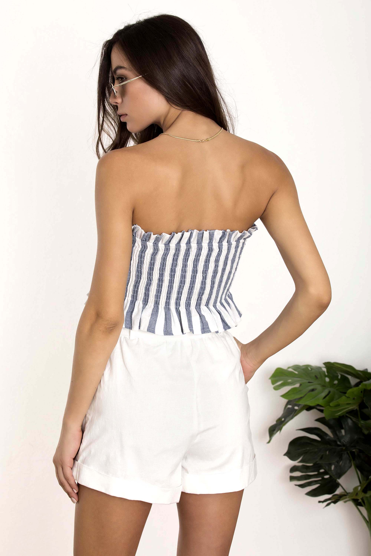 42941e46f594 STRAPLESS ΜΠΟΥΣΤΑΚΙ ΜΕ ΚΟΥΜΠΑΚΙΑ - CLOTHES -  Tops -  Crop tops ...