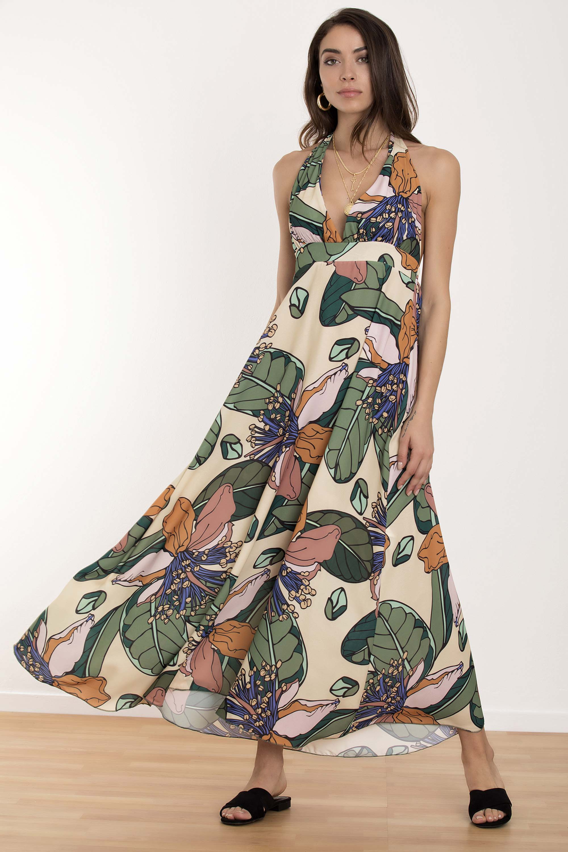 e87d71a35ba1 ΕΜΠΡΙΜΕ ΕΞΩΠΛΑΤΟ ΜΑΧΙ ΦΟΡΕΜΑ - CLOTHES -  Φορέματα   Φόρμες -  Maxi  φορέματα