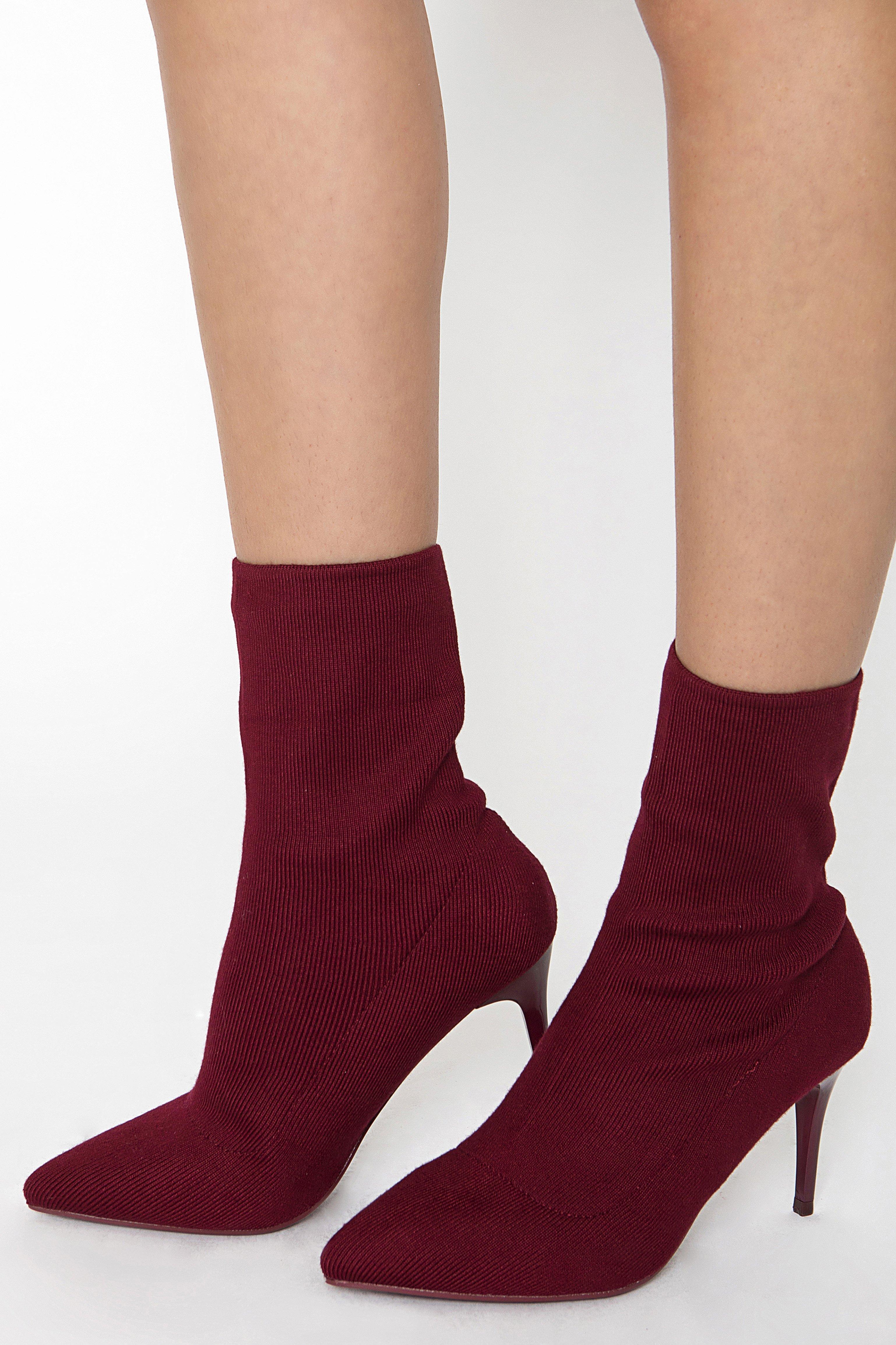 SHOCK HEEL BOOTS - Μπορντώ shoes   heels