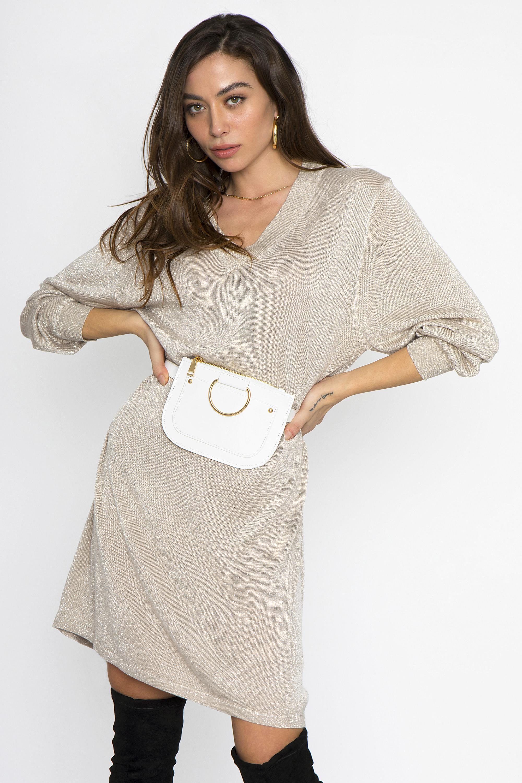 873077646c9b GLITTER ΦΟΡΕΜΑ V ΛΑΙΜΟΚΟΨΗ - CLOTHES -  Φορέματα   Φόρμες -  Mini φορέματα