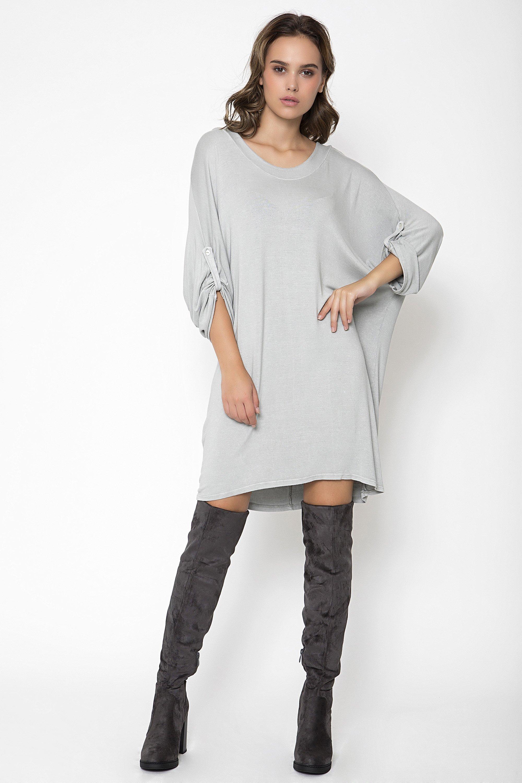 OVERSIZED ΦΟΡΕΜΑ - Ανοιχτό γκρι clothes   φορέματα   φόρμες   midi φορέματα