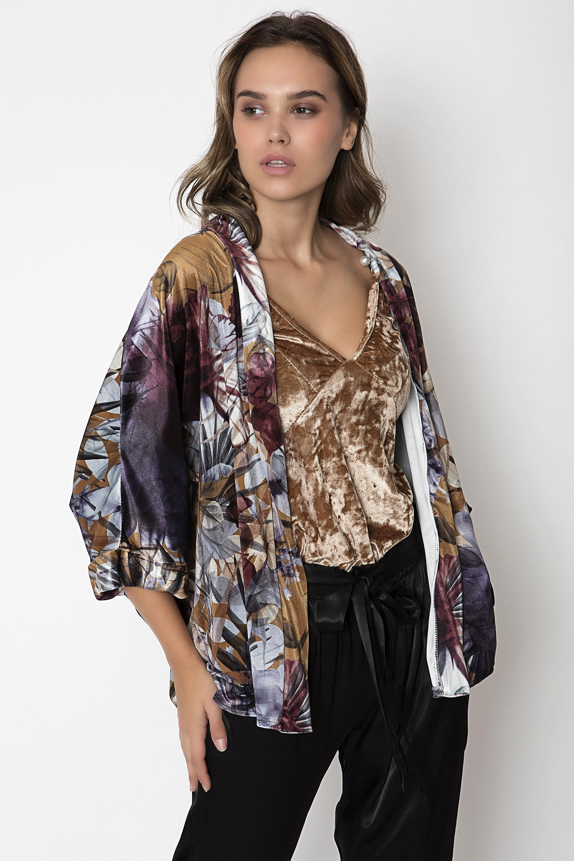 VELVET KIMONO - Μωβ clothes   jackets   kimono