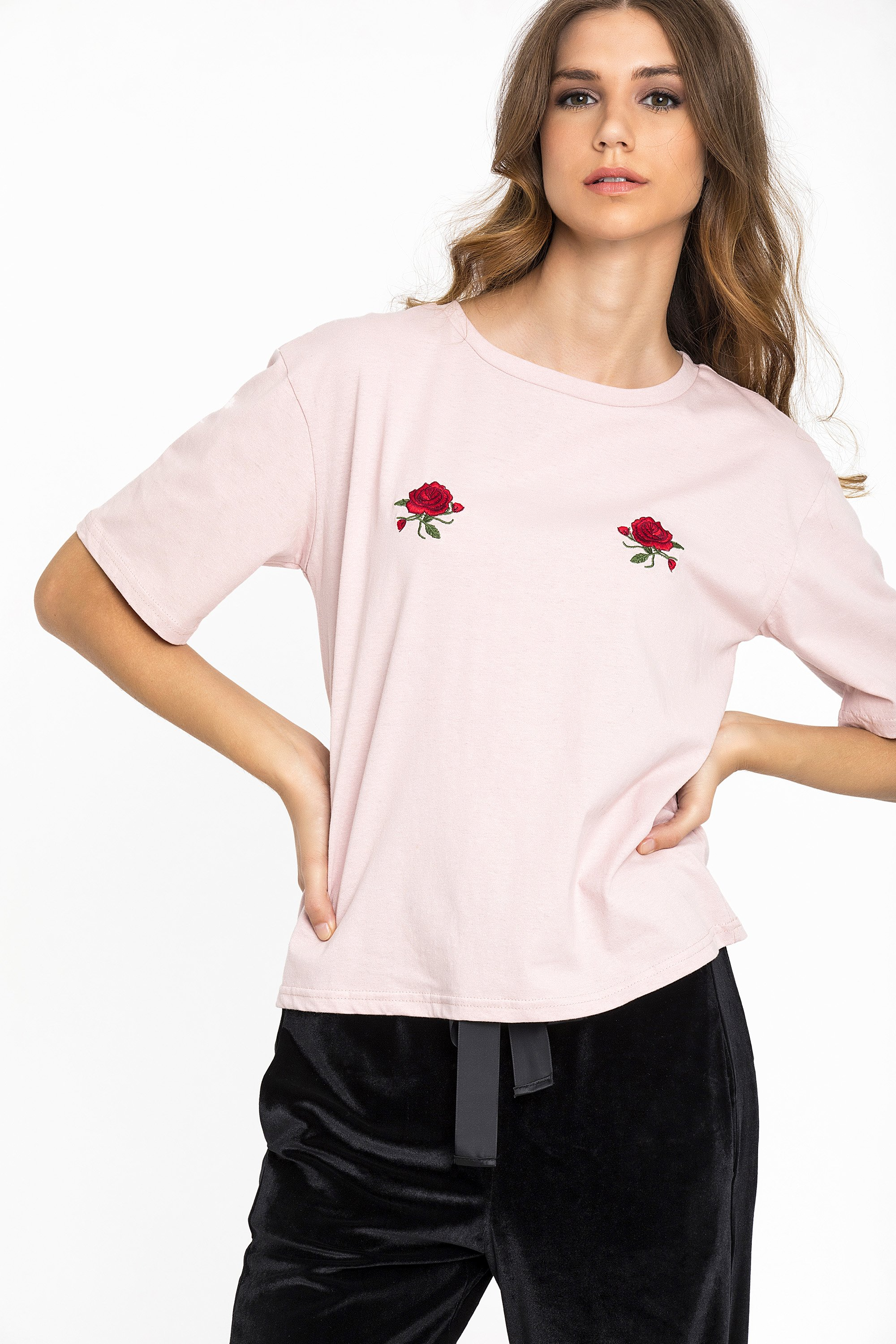 CHEST ROSE T-SHIRT - Ροζ clothes   tops   μπλούζες