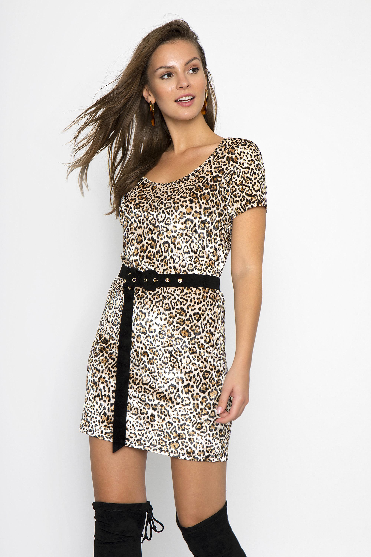 ΜΙΝΙ VELVET LEOPARD ΦΟΡΕΜΑ - Leopard